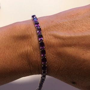 JTV Purple African Amethyst Tennis Bracelet